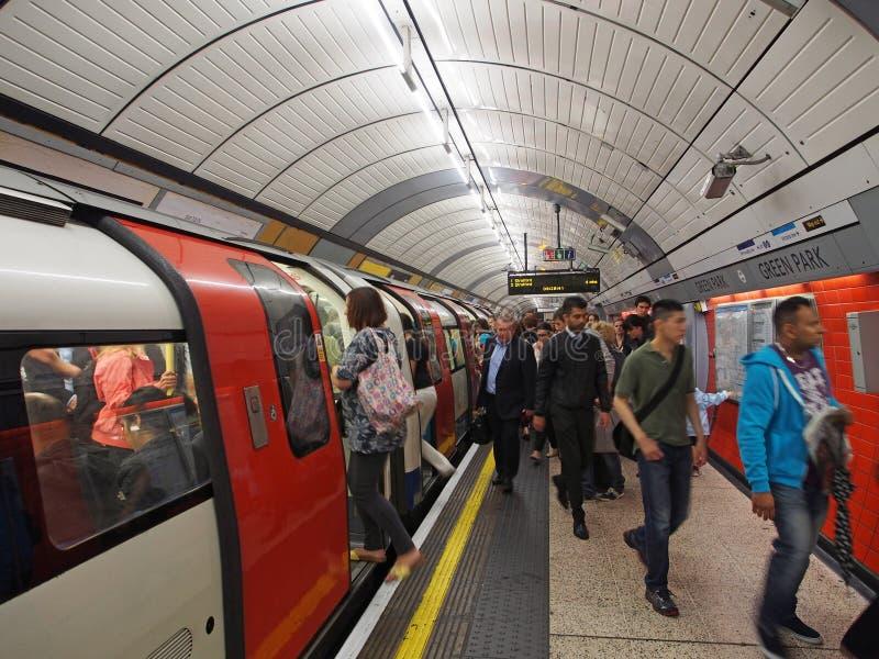 Estação de metro de Londres imagem de stock