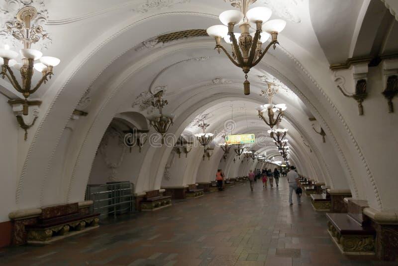 Estação de metro de Moscou fotos de stock royalty free