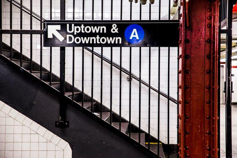 Estação de metro de NYC foto de stock royalty free