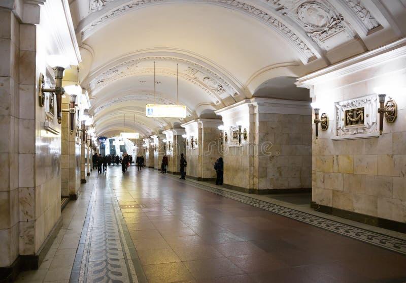 Estação de metro de Oktyabrskaya imagens de stock