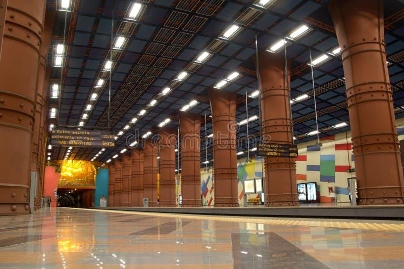 Estação de metro de Olaias imagens de stock royalty free