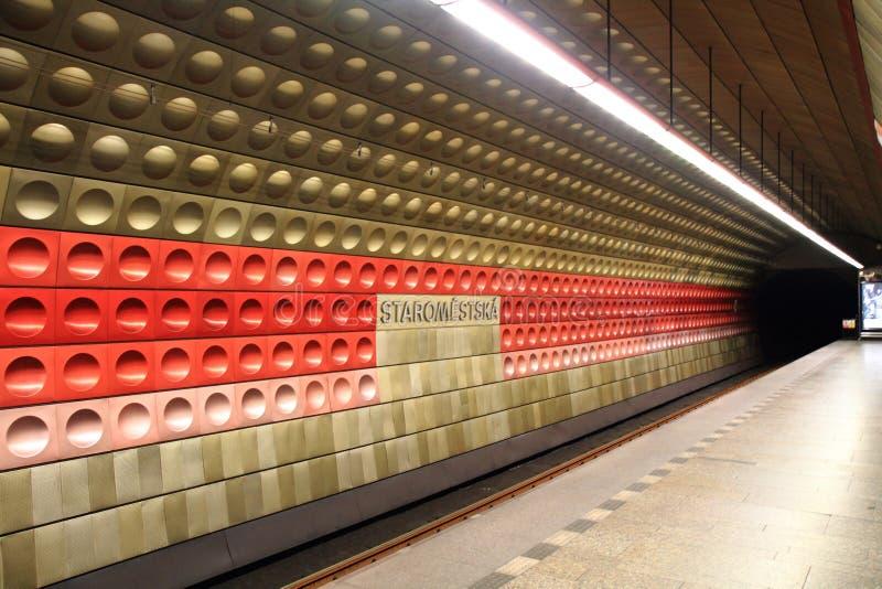 Estação de metro de Praga fotografia de stock