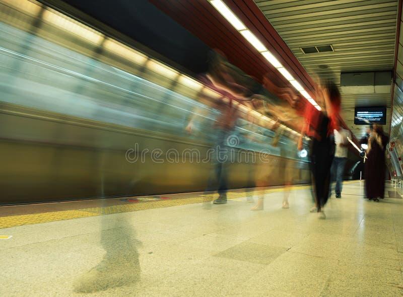 Estação de metro de Taksim, Istambul, Turquia imagem de stock