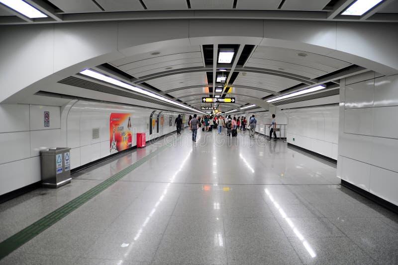 Estação de metro do leste de Guangzhou, porcelana foto de stock royalty free