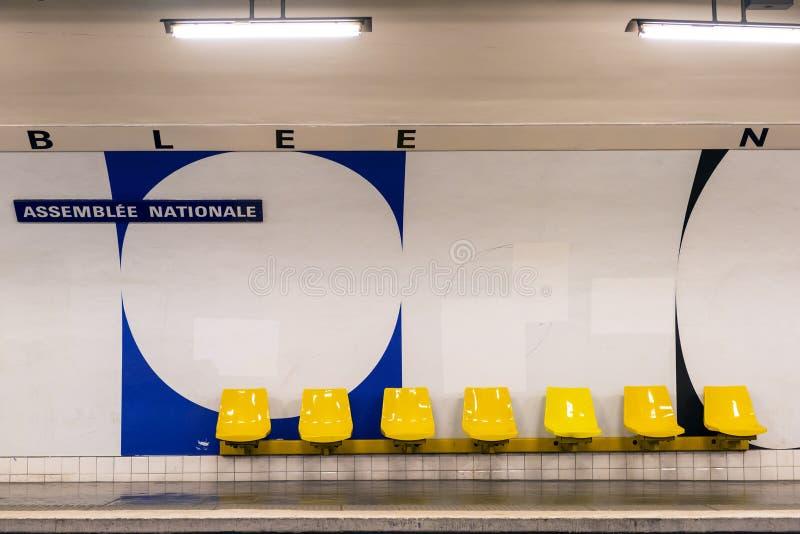 Estação de metro em Paris fotos de stock royalty free