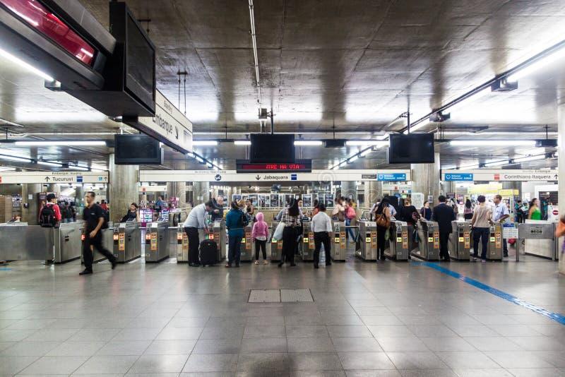 Estação de metro em Sao Paulo imagens de stock royalty free
