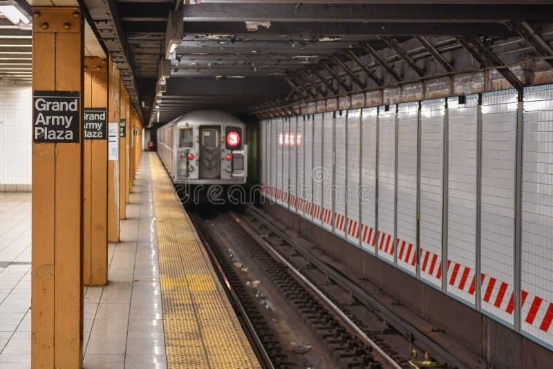 Estação de metro grande da plaza do exército - New York City fotos de stock royalty free