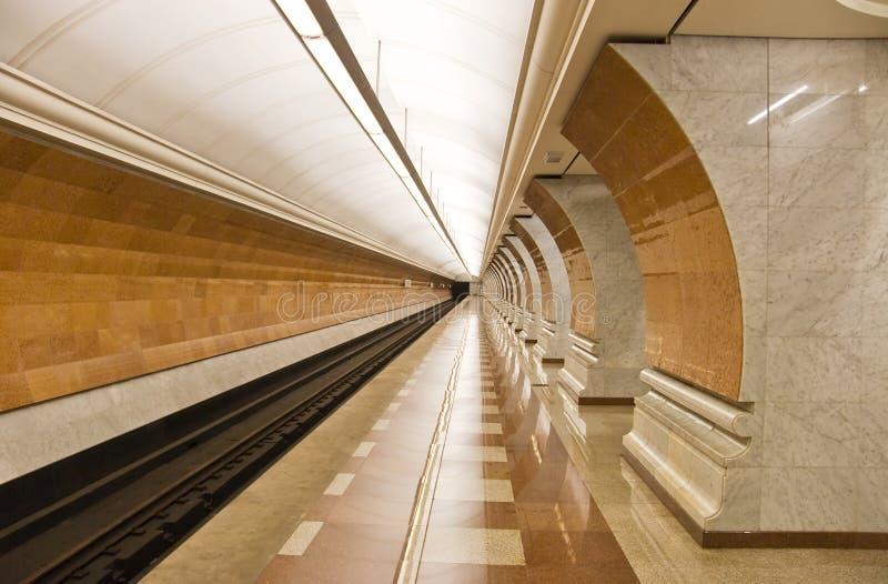 Estação de metro moderna foto de stock royalty free