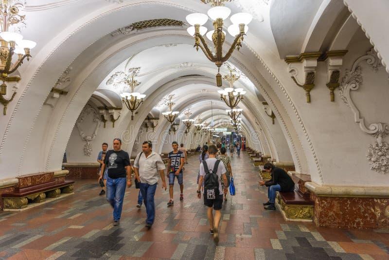 Estação de metro de Moscou, Rússia - de Arbatskaya imagem de stock