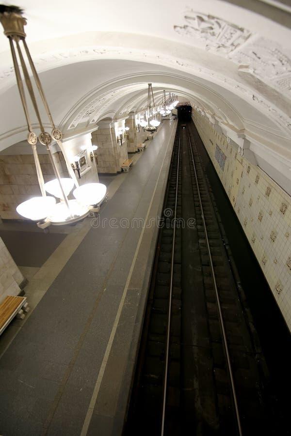 Estação de metro Oktyabrskaya (linha de Koltsevaya) em Moscou, Rússia imagens de stock