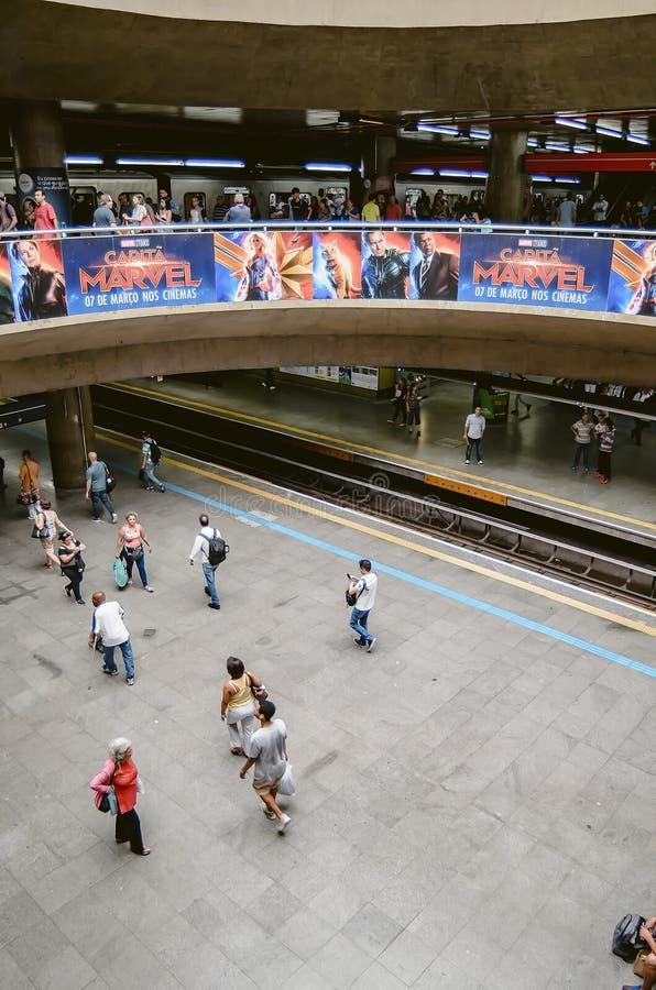 Estação de metro de Sé em SP Brasil de Sao Paulo foto de stock