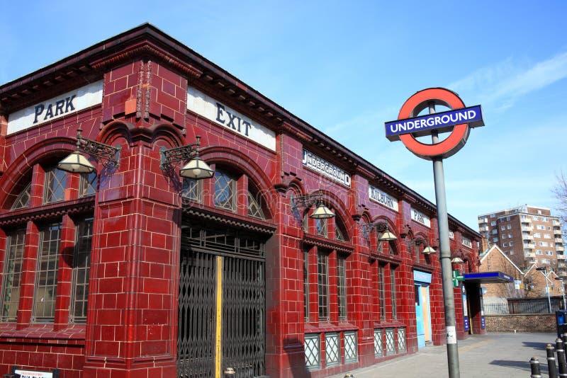 Estação de metro subterrânea de Londres fotografia de stock