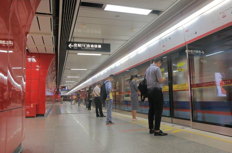 Estação de metro subterrânea Guangzhou do metro do centro imagem de stock royalty free