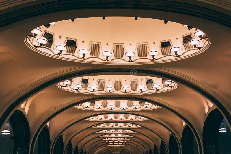 Estação de metro velha da arquitetura imagem de stock royalty free