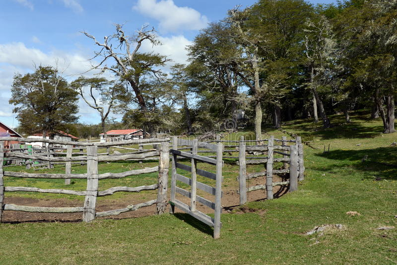 Estação de pesquisa no parque nacional Karukinka em Tierra del Fuego fotos de stock royalty free