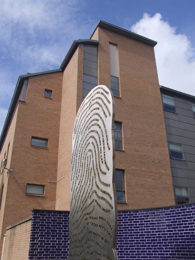 Estação de polícia de Swansea fotos de stock royalty free