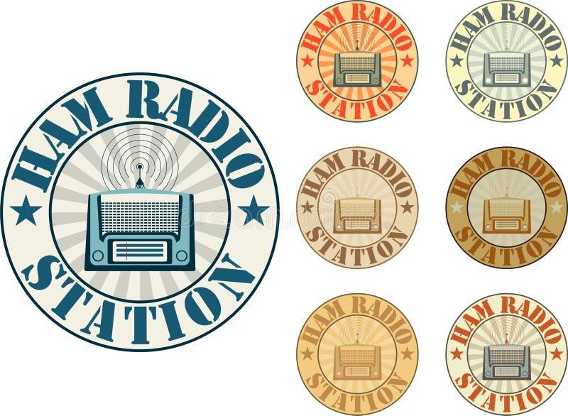 Estação de radioamador ilustração royalty free