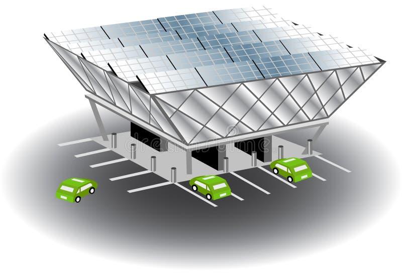 Estação de recarregamento solar ilustração do vetor