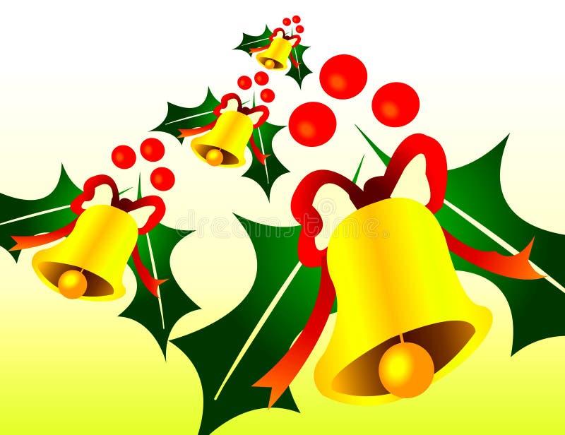 Estação de sinos de Natal ilustração stock