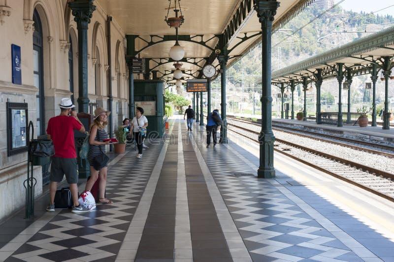 Estação de Taormina foto de stock