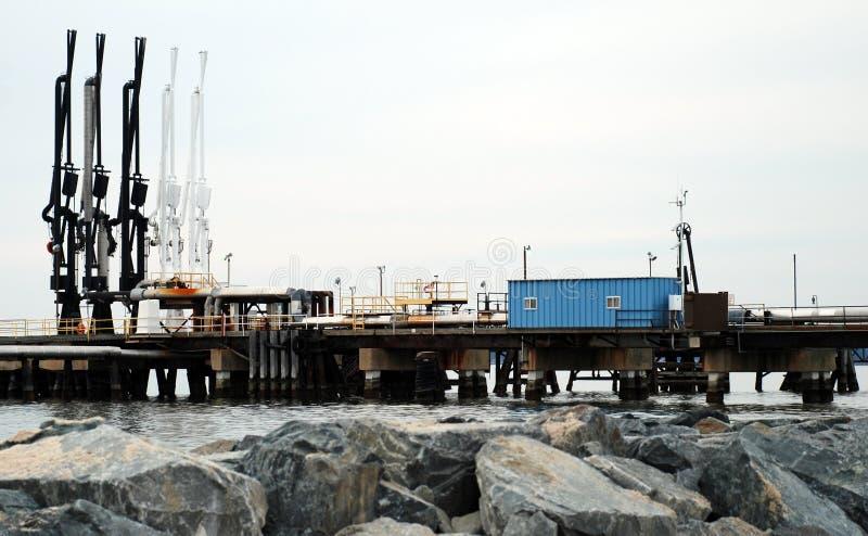 Estação de transferência do petróleo fotografia de stock