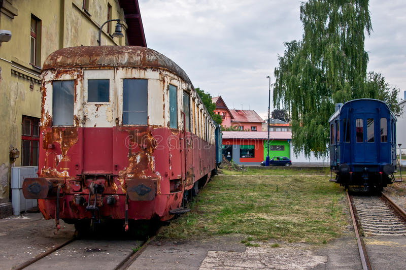 Estação de trem abandonada imagens de stock
