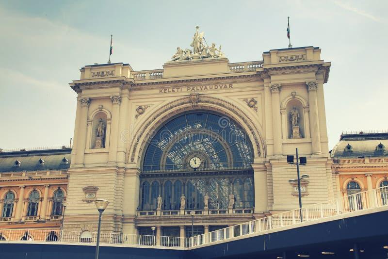 Estação de trem de Budapest Keleti vista do oeste imagem de stock royalty free