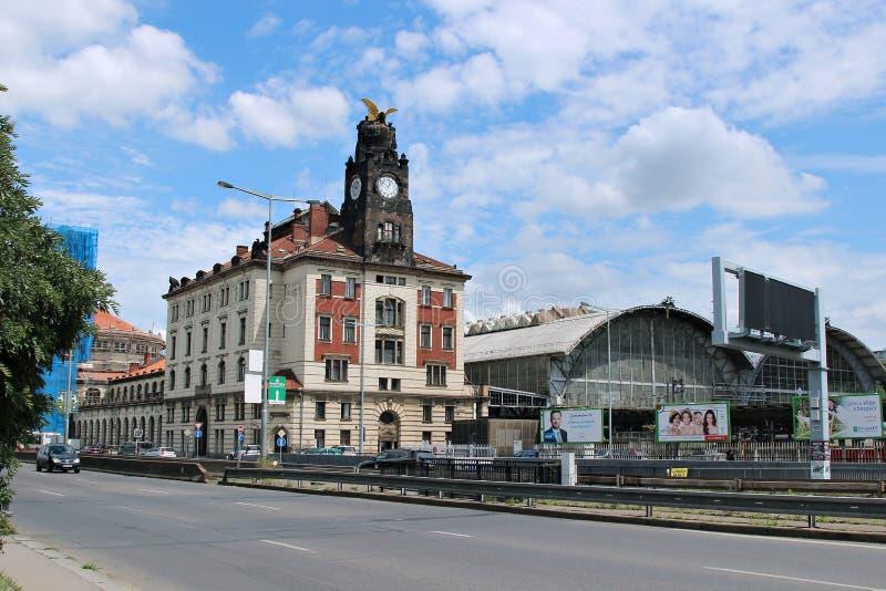 Estação de trem central em Praga imagens de stock