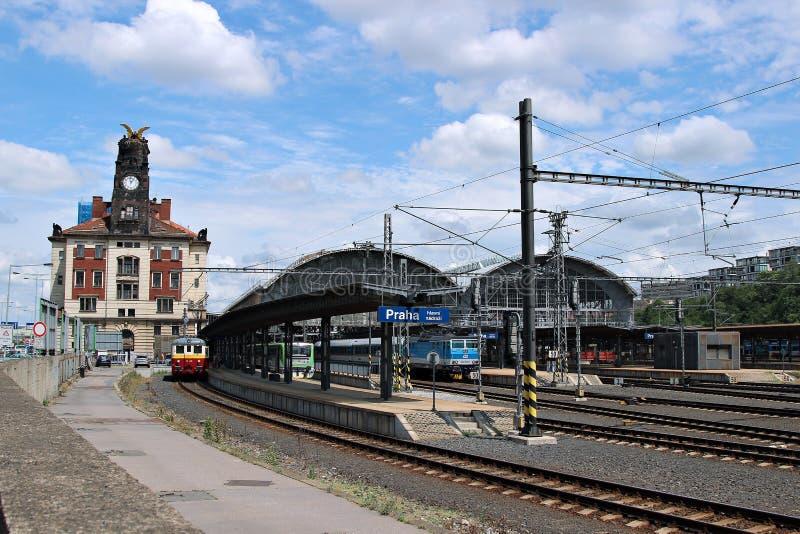 Estação de trem central em Praga foto de stock royalty free