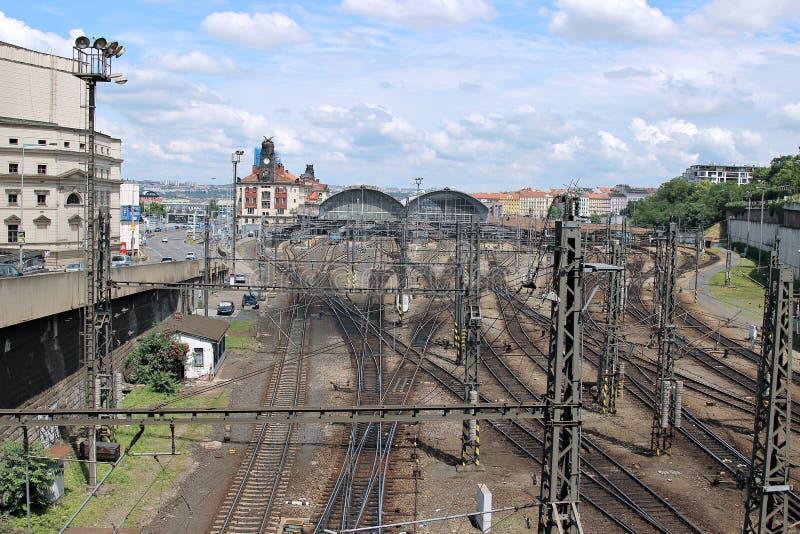 Estação de trem central em Praga imagem de stock