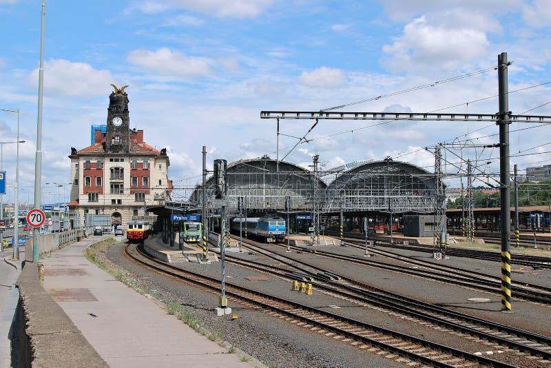Estação de trem central em Praga foto de stock