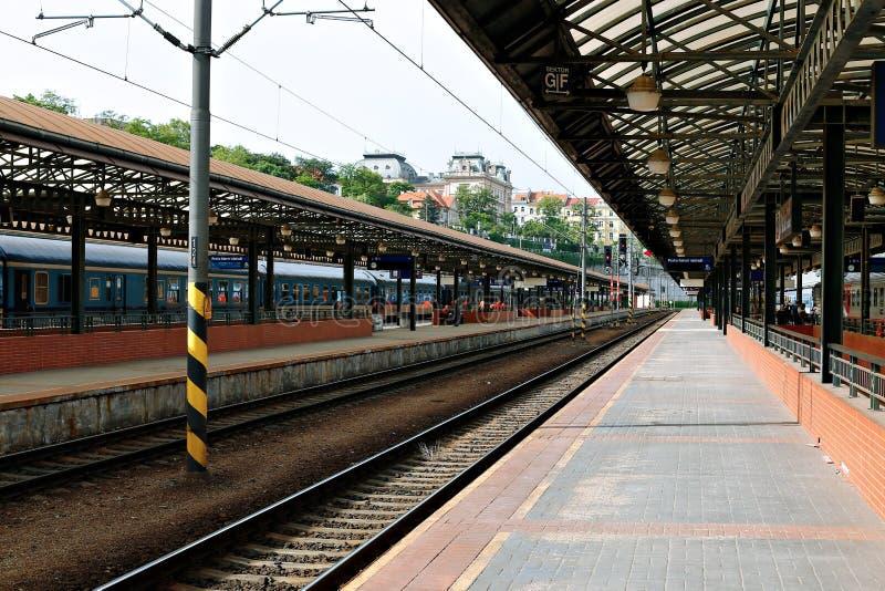 Estação de trem central em Praga imagem de stock royalty free