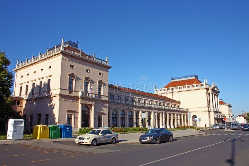Estação de trem central, Zagreb foto de stock
