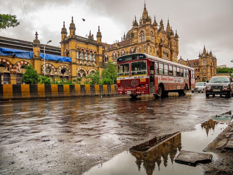 Estação de trem de Chhatrapati Shivaji Terminus (CSTM) imagem de stock royalty free
