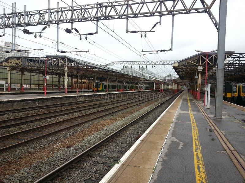 Estação de trem Crewe Inglaterra foto de stock royalty free
