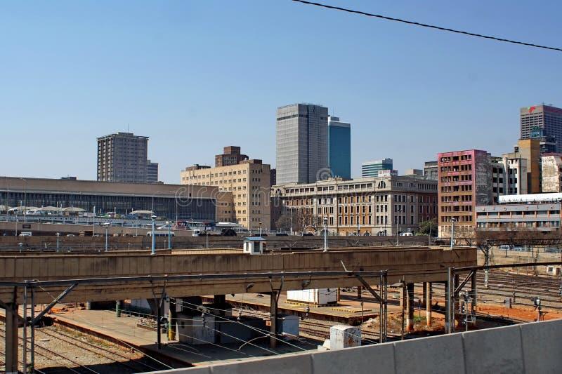 Estação de trem da periferia em Joanesburgo do centro fotos de stock royalty free