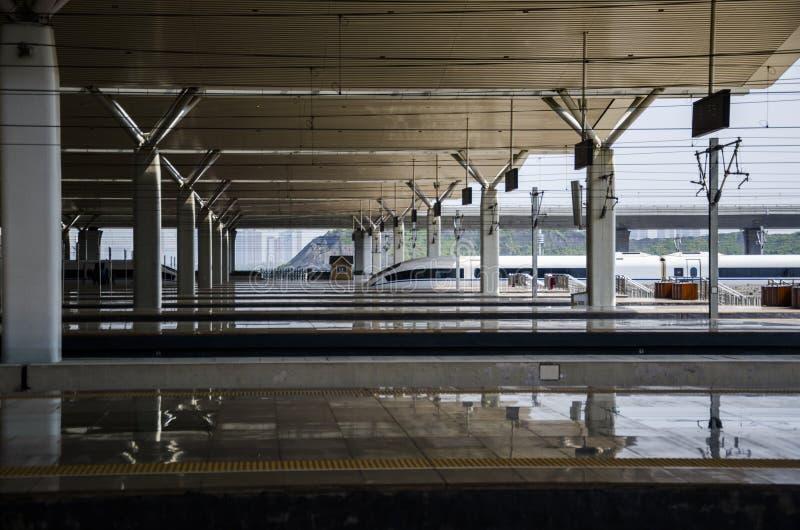 Estação de trem de alta velocidade imagem de stock royalty free