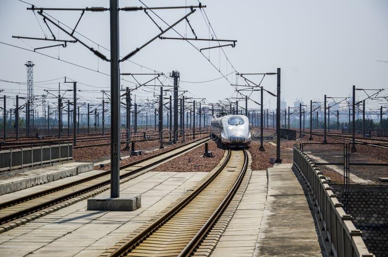 Estação de trem de alta velocidade imagens de stock
