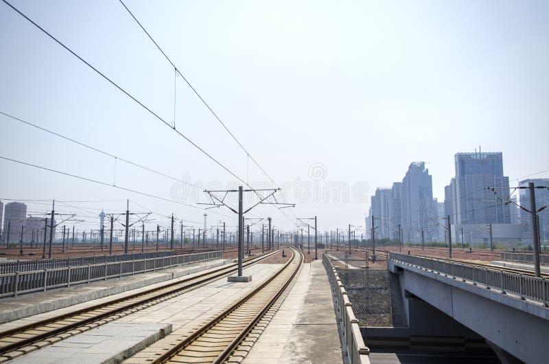 Estação de trem de alta velocidade fotografia de stock royalty free