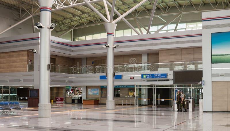 Estação de trem de Dorasan, DMZ, Coreia do Sul foto de stock