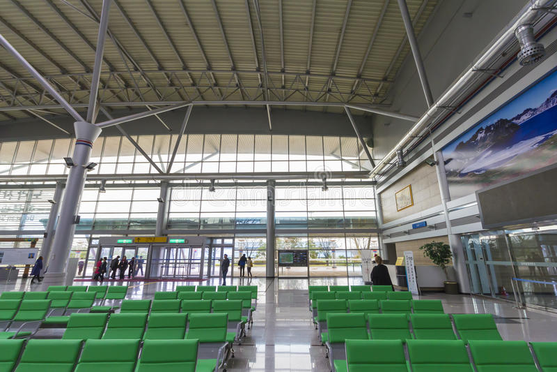 Estação de trem de Dorasan para dentro fotos de stock royalty free
