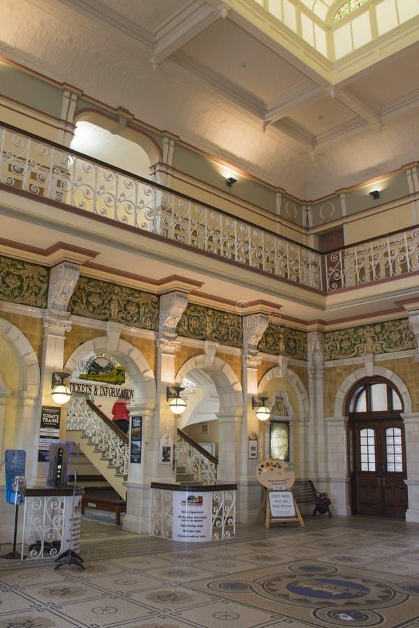 Estação de trem de Dunedin, Nova Zelândia fotos de stock