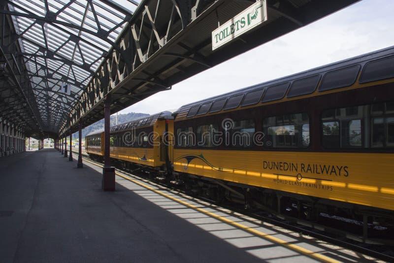 Estação de trem de Dunedin, Nova Zelândia fotos de stock royalty free