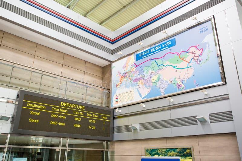 Estação de trem de Dorasan em Coreia do Sul fotografia de stock royalty free