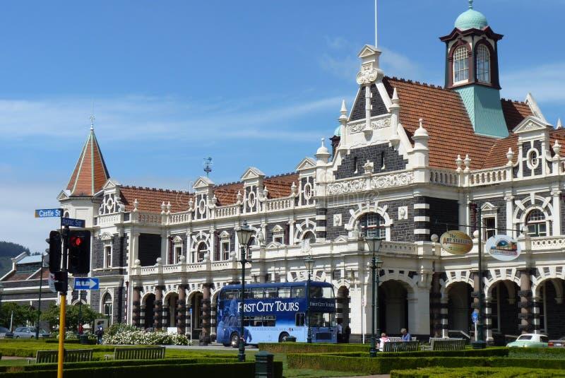 Estação de trem de Dunedin, Nova Zelândia imagens de stock