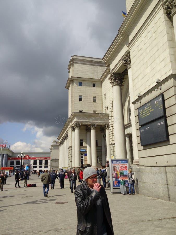 Estação de trem em Ucrânia imagens de stock royalty free