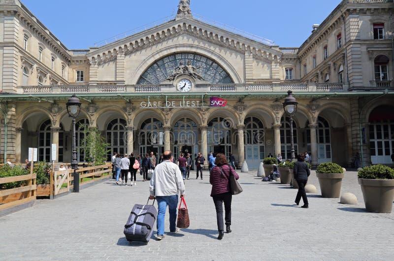 Estação de trem Gare de l 'est em Paris, França fotos de stock