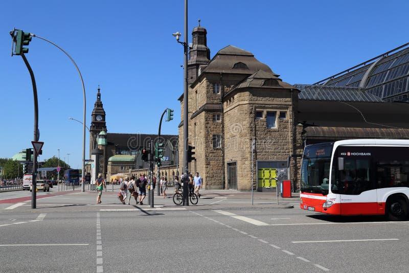 Estação de trem de Hamburgo, Alemanha fotografia de stock royalty free