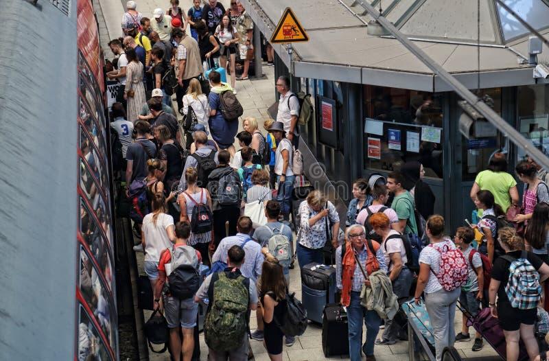 Estação de trem de Hamburgo, Alemanha imagens de stock