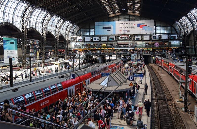 Estação de trem de Hamburgo, Alemanha fotografia de stock